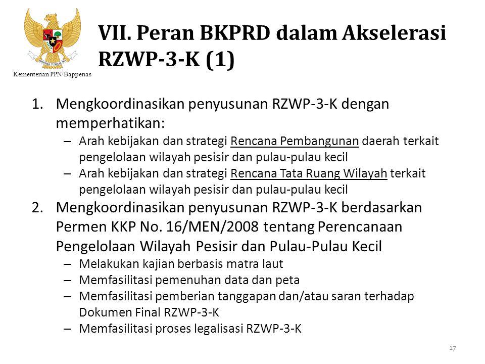 VII. Peran BKPRD dalam Akselerasi RZWP-3-K (1)