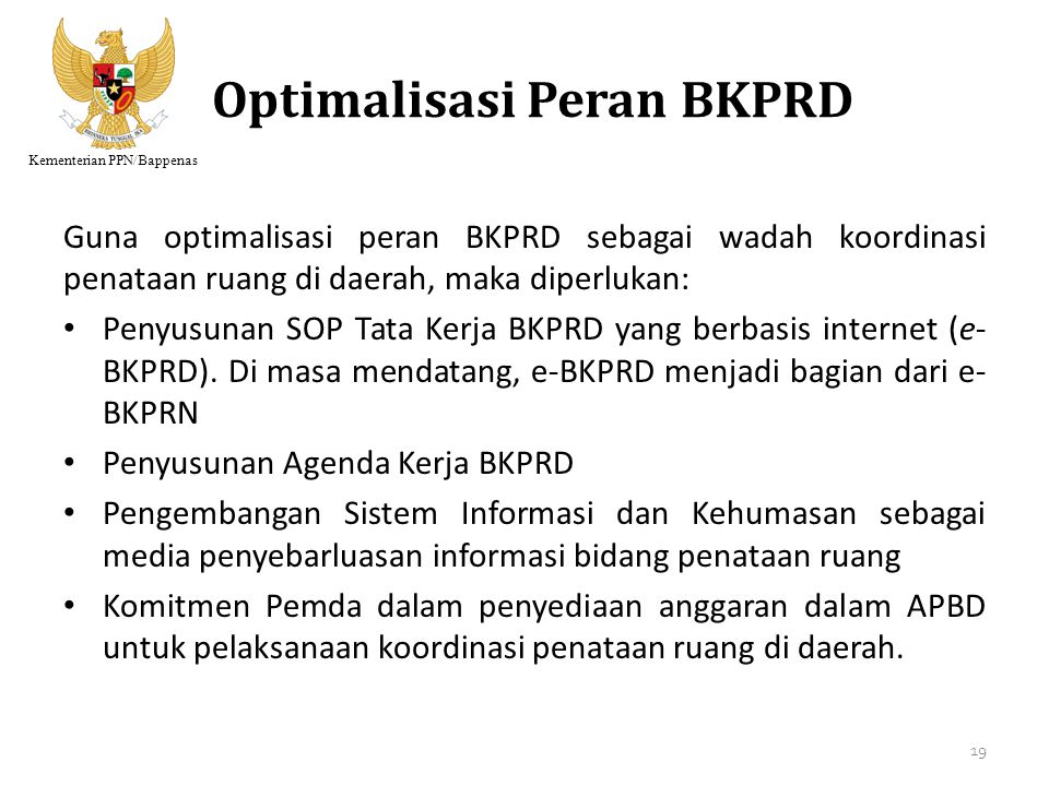 Optimalisasi Peran BKPRD