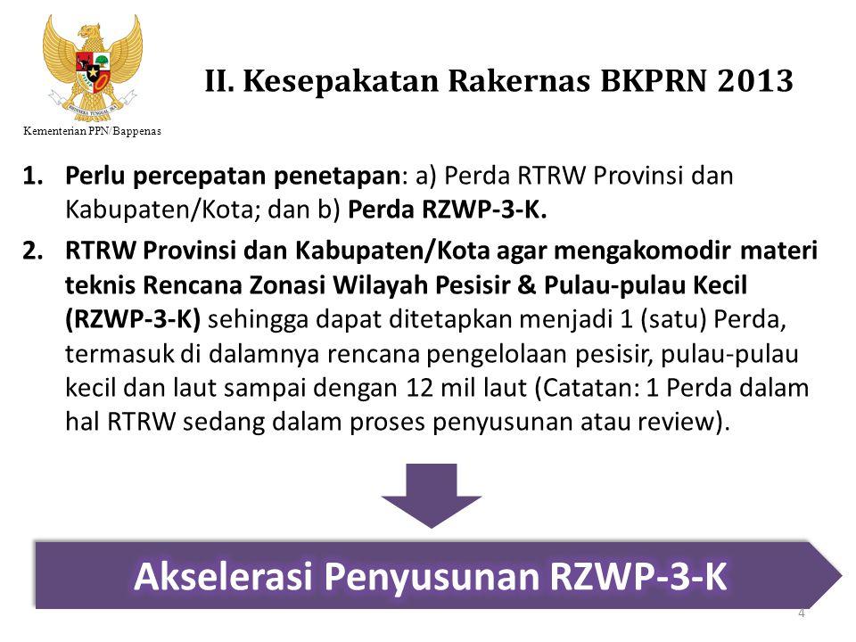 II. Kesepakatan Rakernas BKPRN 2013