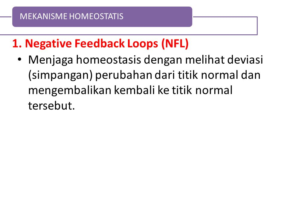1. Negative Feedback Loops (NFL)