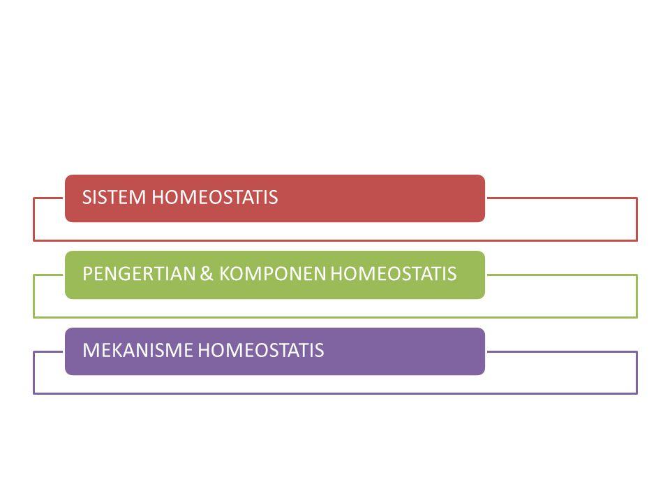 SISTEM HOMEOSTATIS PENGERTIAN & KOMPONEN HOMEOSTATIS MEKANISME HOMEOSTATIS