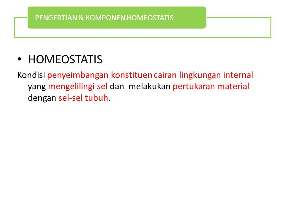 PENGERTIAN & KOMPONEN HOMEOSTATIS