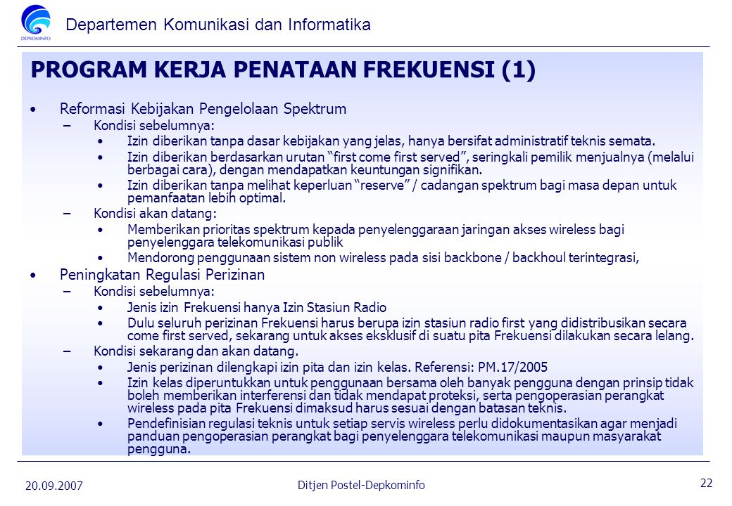 PROGRAM KERJA PENATAAN FREKUENSI (1)