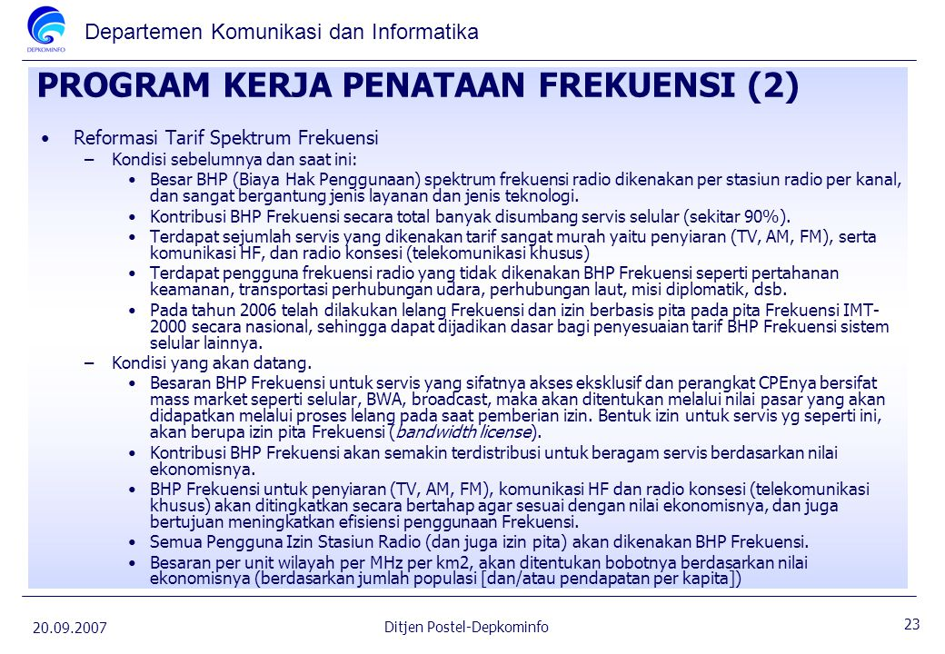 PROGRAM KERJA PENATAAN FREKUENSI (2)