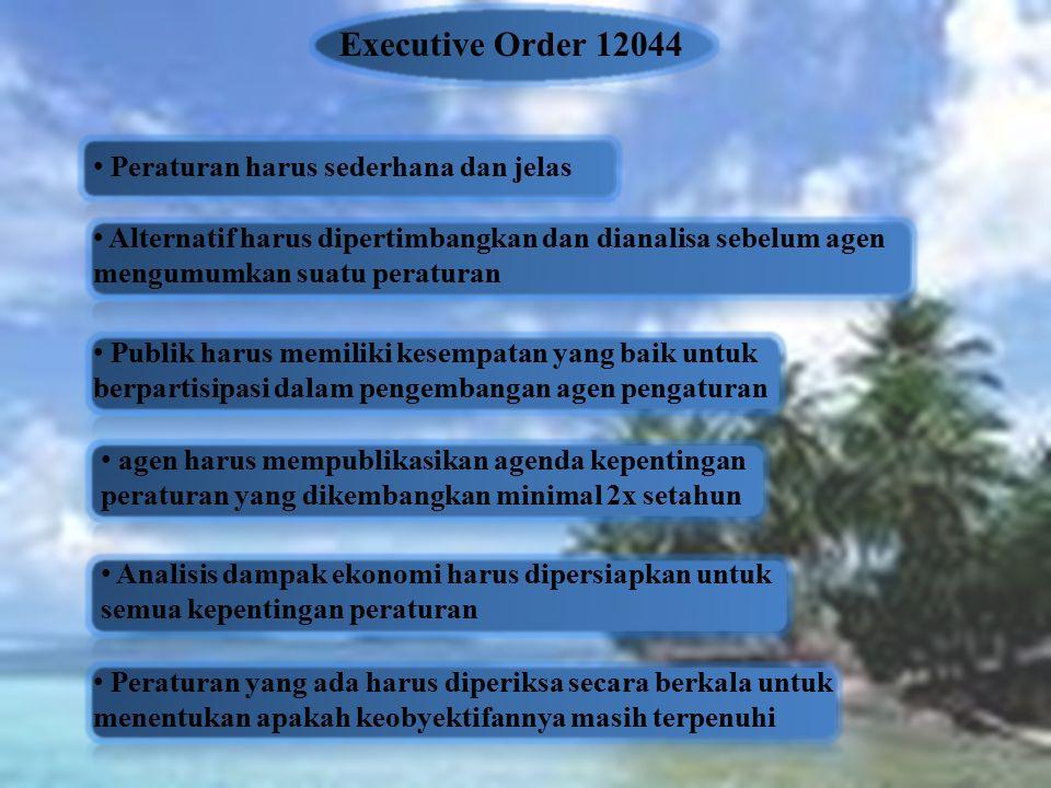 Executive Order 12044 Peraturan harus sederhana dan jelas