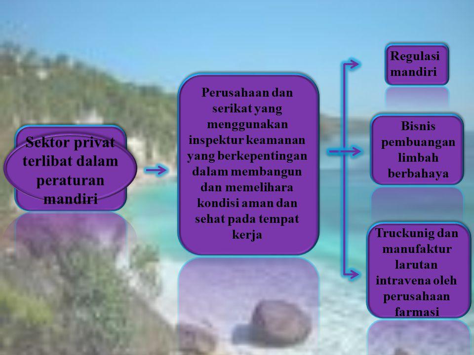 Sektor privat terlibat dalam peraturan mandiri