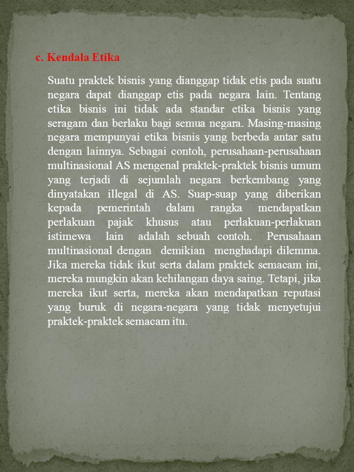c. Kendala Etika