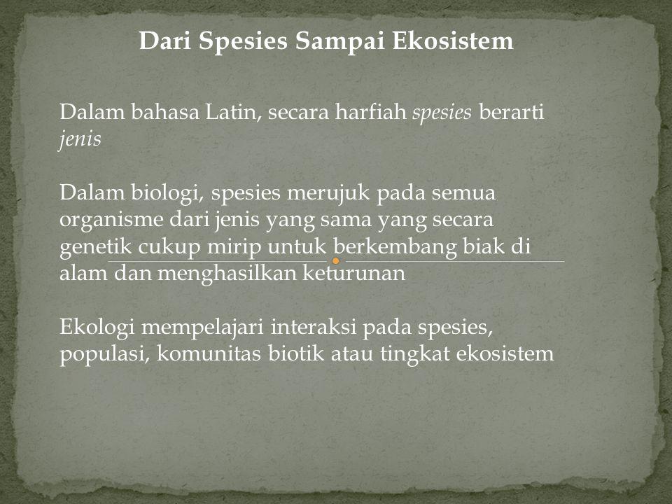 Dari Spesies Sampai Ekosistem