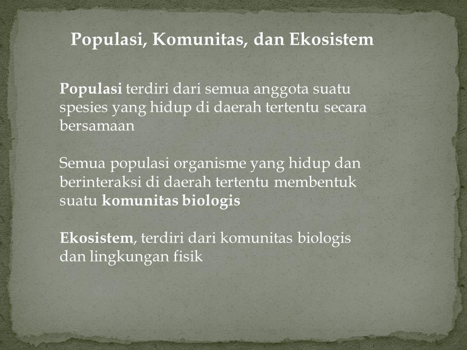 Populasi, Komunitas, dan Ekosistem