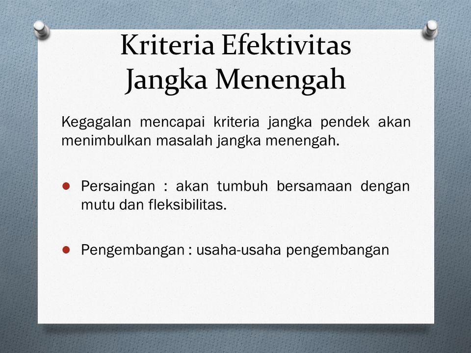 Kriteria Efektivitas Jangka Menengah