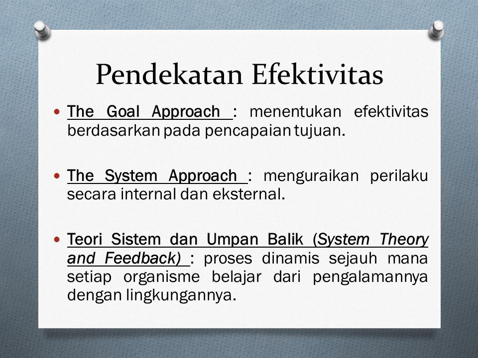 Pendekatan Efektivitas