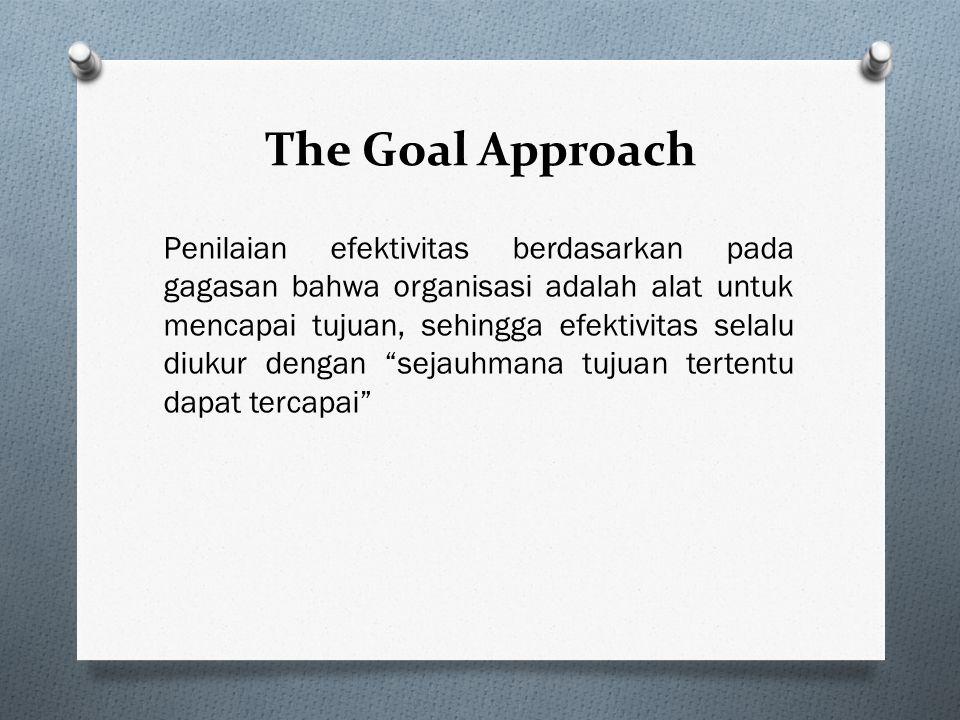 The Goal Approach