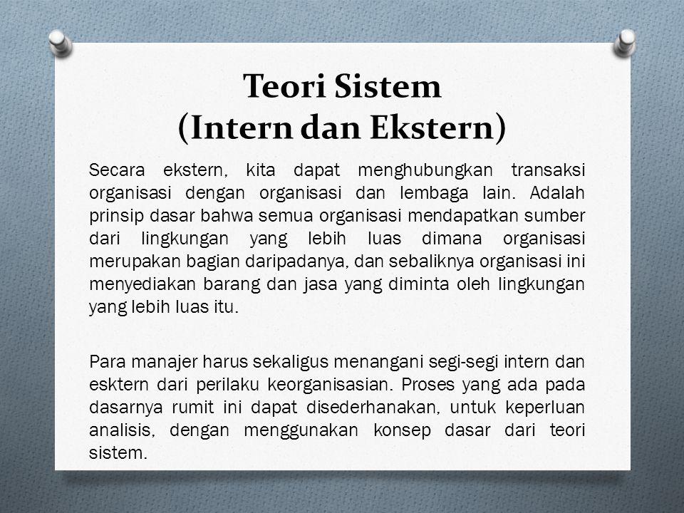 Teori Sistem (Intern dan Ekstern)