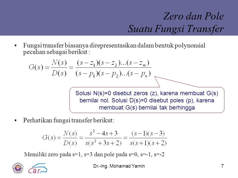 Zero dan Pole Suatu Fungsi Transfer