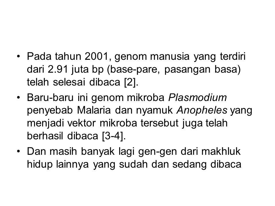 Pada tahun 2001, genom manusia yang terdiri dari 2