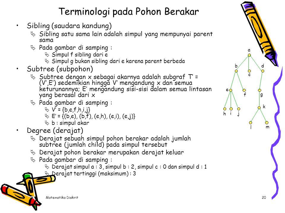 Terminologi pada Pohon Berakar