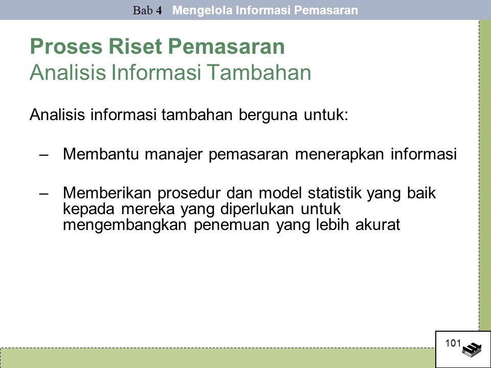 Proses Riset Pemasaran Analisis Informasi Tambahan