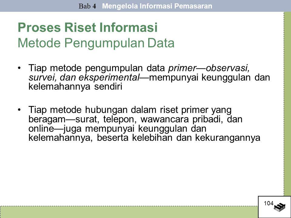 Proses Riset Informasi Metode Pengumpulan Data