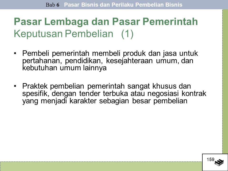 Pasar Lembaga dan Pasar Pemerintah Keputusan Pembelian (1)