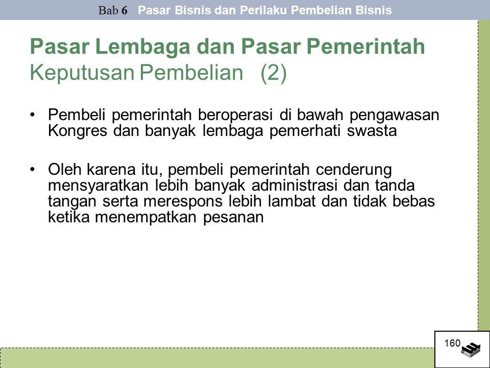 Pasar Lembaga dan Pasar Pemerintah Keputusan Pembelian (2)