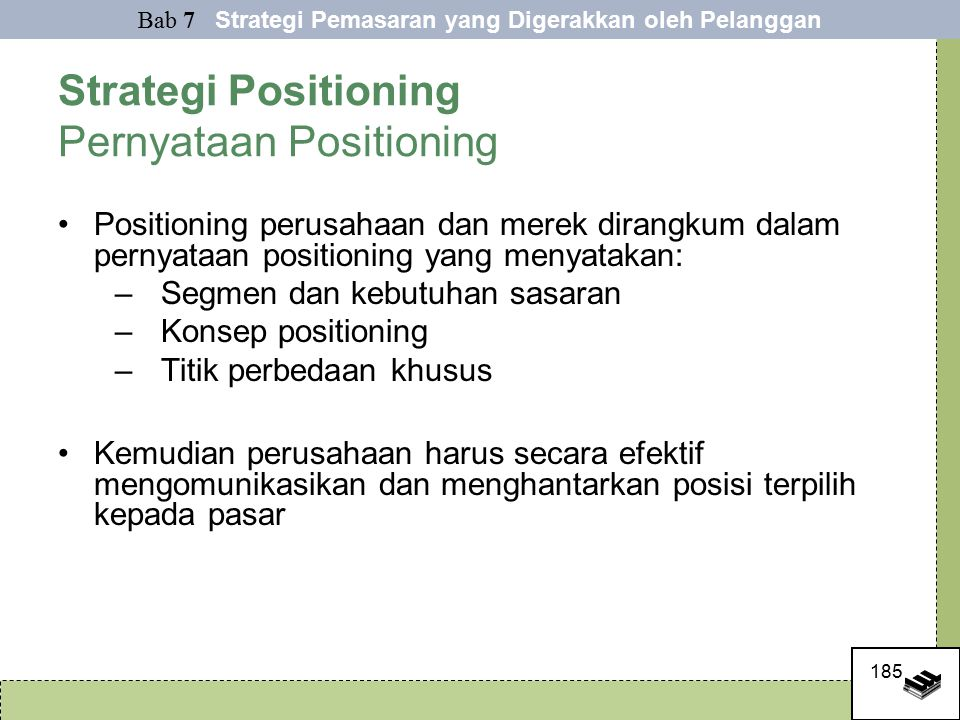 Strategi Positioning Pernyataan Positioning