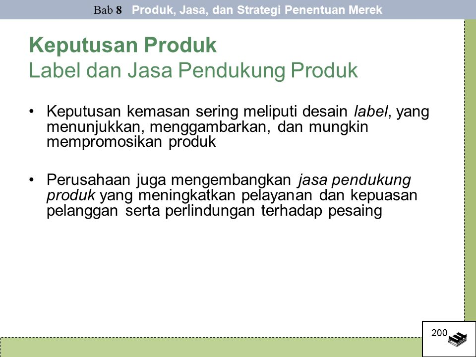Keputusan Produk Label dan Jasa Pendukung Produk