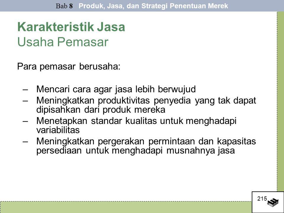 Karakteristik Jasa Usaha Pemasar