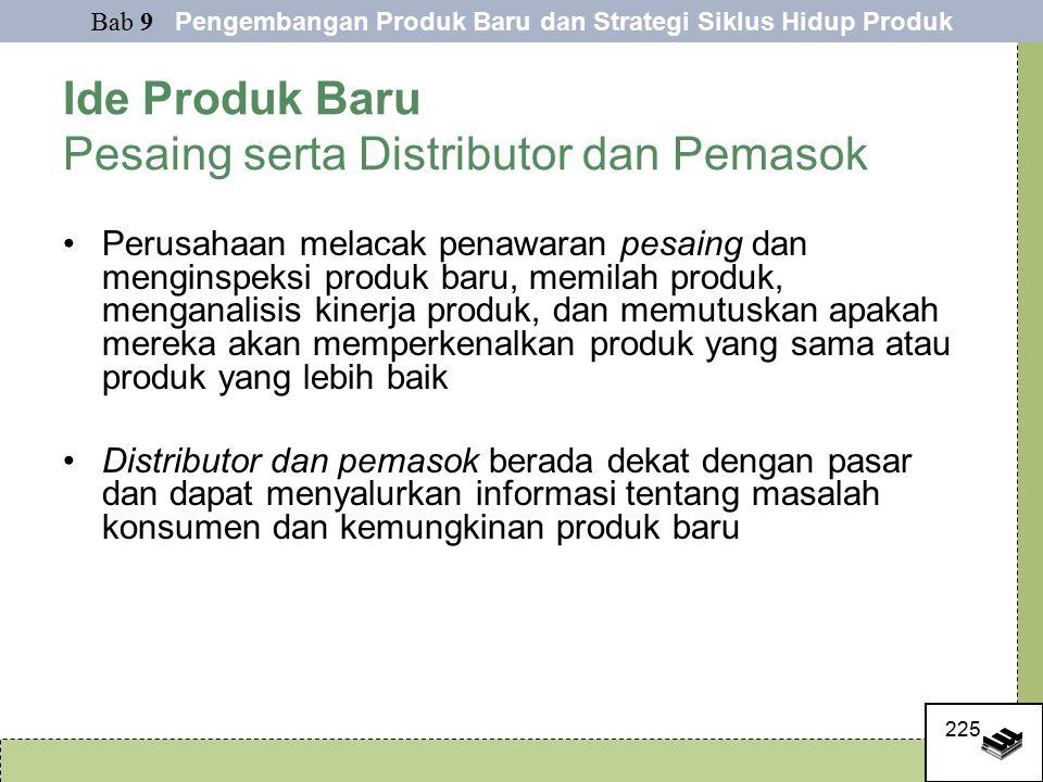 Ide Produk Baru Pesaing serta Distributor dan Pemasok