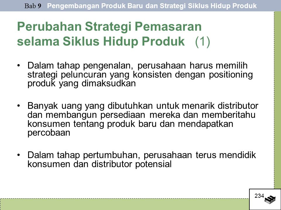 Perubahan Strategi Pemasaran selama Siklus Hidup Produk (1)