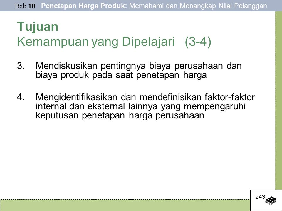 Tujuan Kemampuan yang Dipelajari (3-4)