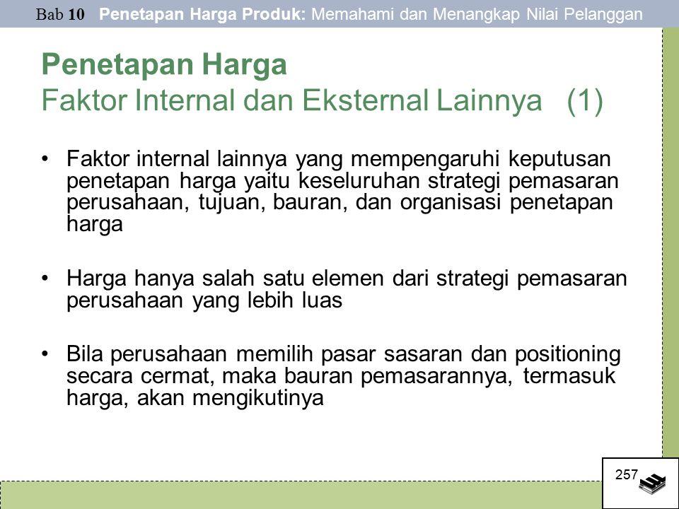 Penetapan Harga Faktor Internal dan Eksternal Lainnya (1)