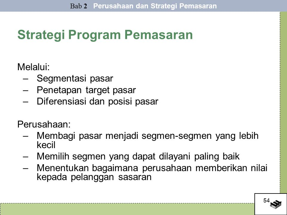 Strategi Program Pemasaran
