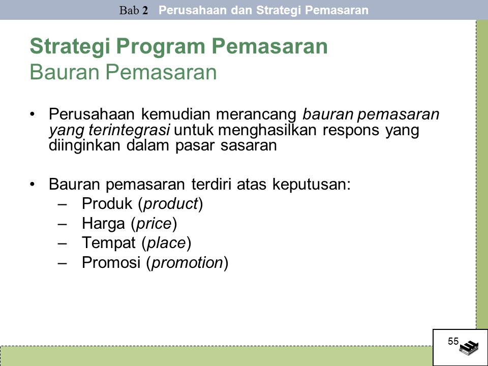 Strategi Program Pemasaran Bauran Pemasaran