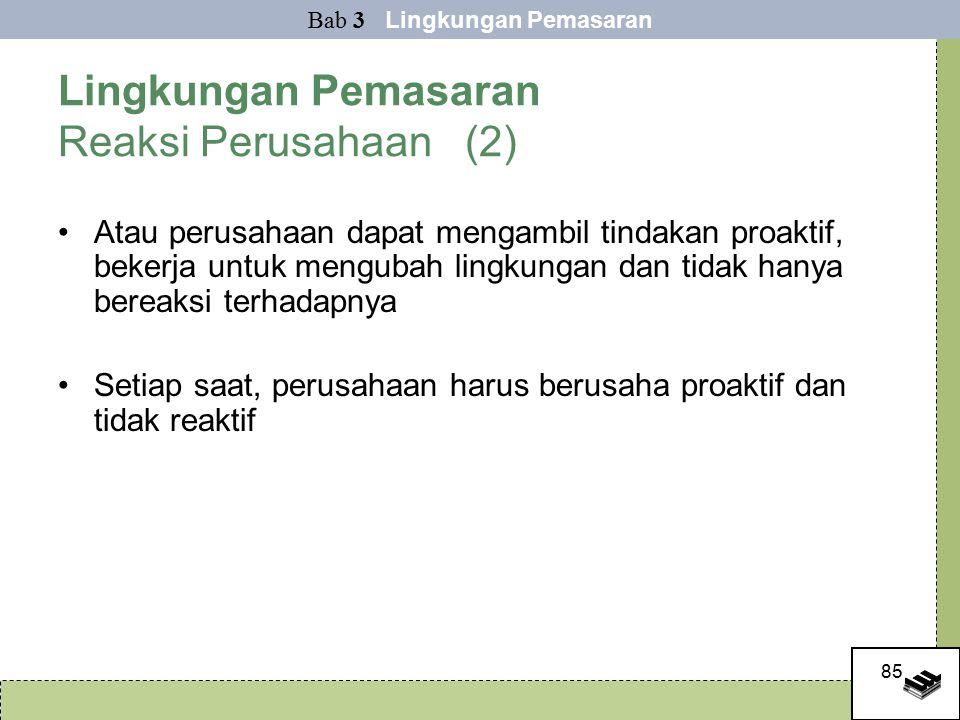 Lingkungan Pemasaran Reaksi Perusahaan (2)