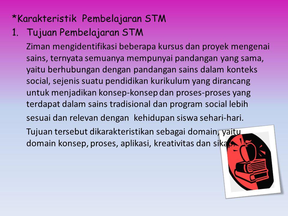 *Karakteristik Pembelajaran STM