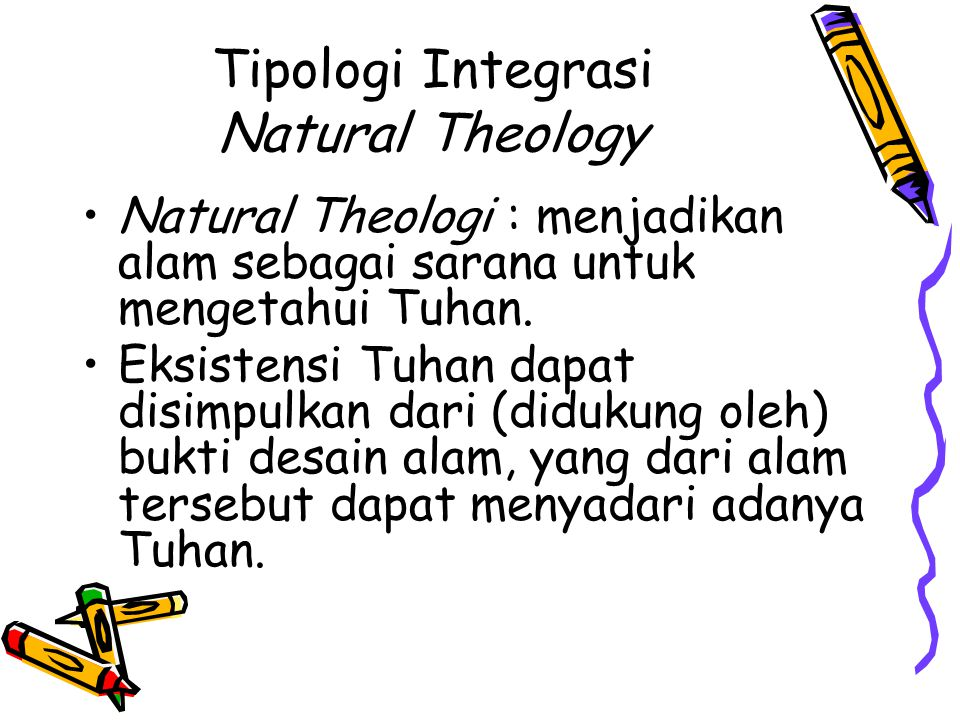 Tipologi Integrasi Natural Theology