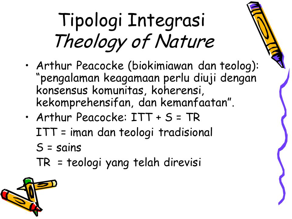 Tipologi Integrasi Theology of Nature