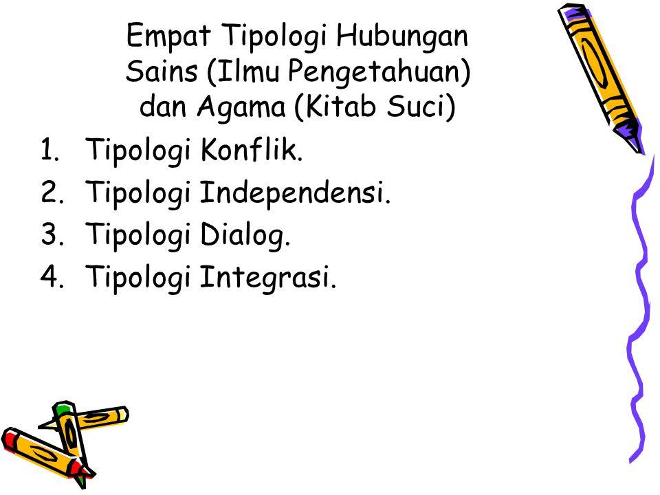 Empat Tipologi Hubungan Sains (Ilmu Pengetahuan) dan Agama (Kitab Suci)