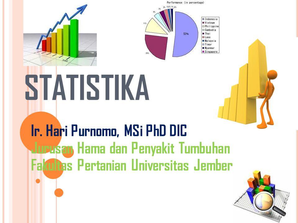 STATISTIKA Ir. Hari Purnomo, MSi PhD DIC