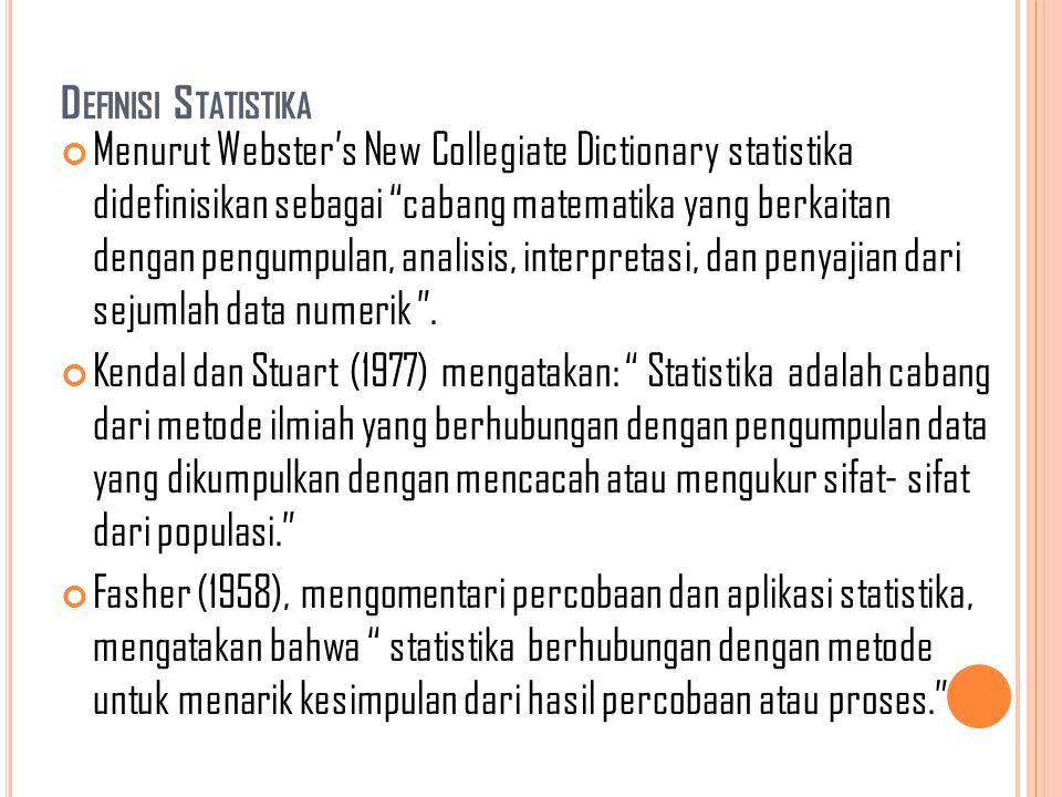 Definisi Statistika