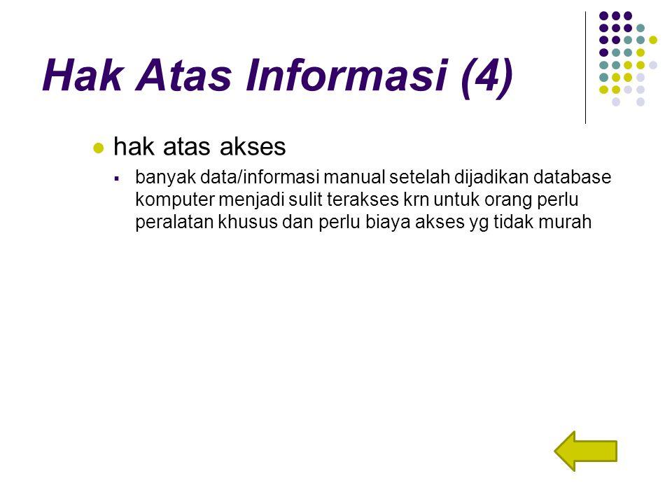 Hak Atas Informasi (4) hak atas akses
