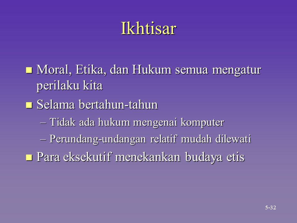 Ikhtisar Moral, Etika, dan Hukum semua mengatur perilaku kita