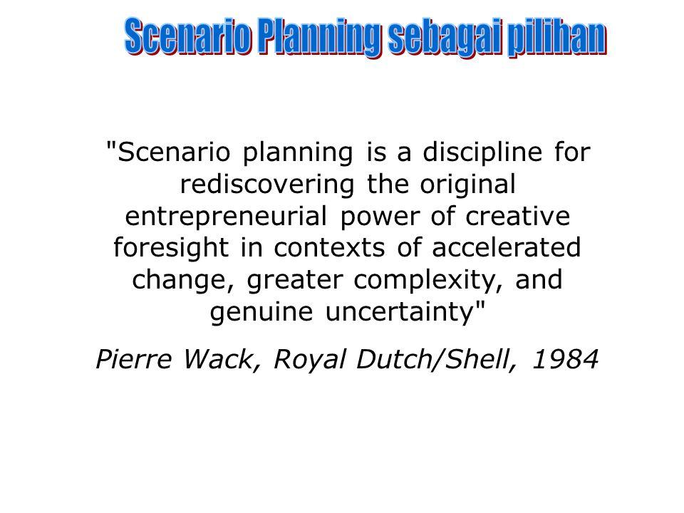 Scenario Planning sebagai pilihan