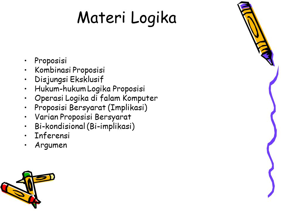 Materi Logika Proposisi Kombinasi Proposisi Disjungsi Eksklusif