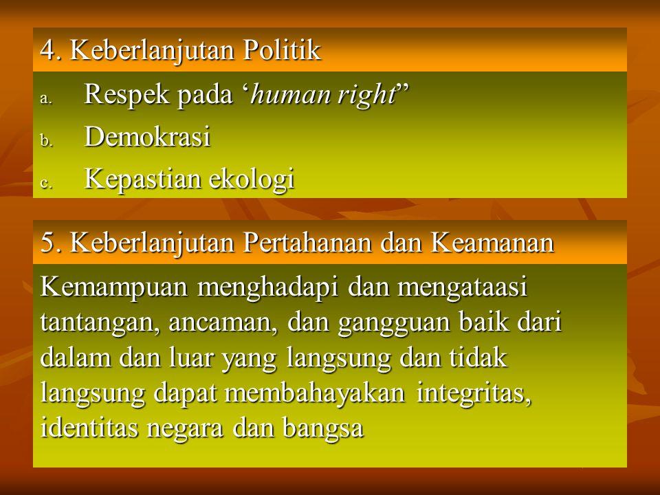4. Keberlanjutan Politik