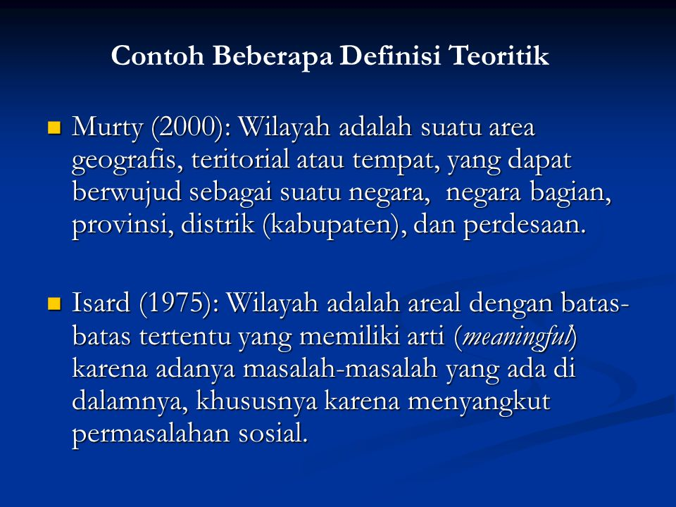 Contoh Beberapa Definisi Teoritik