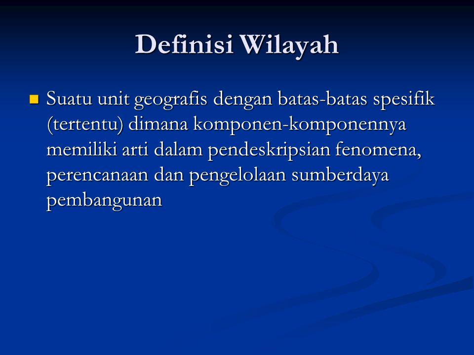 Definisi Wilayah