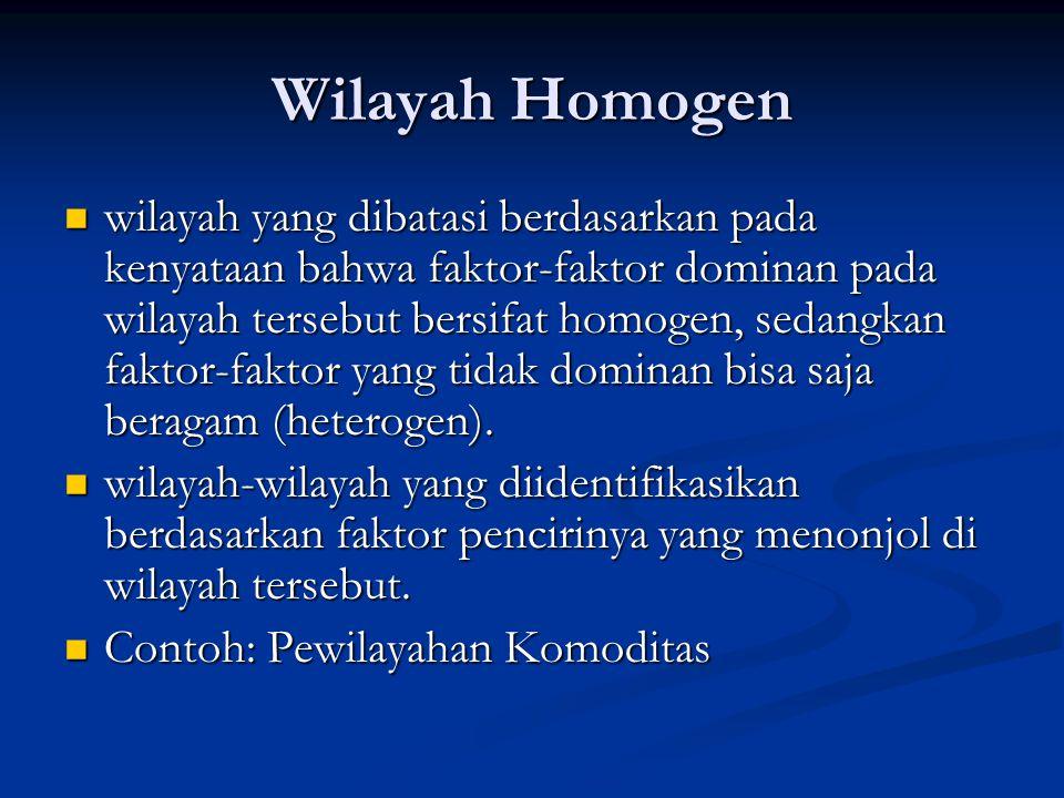 Wilayah Homogen