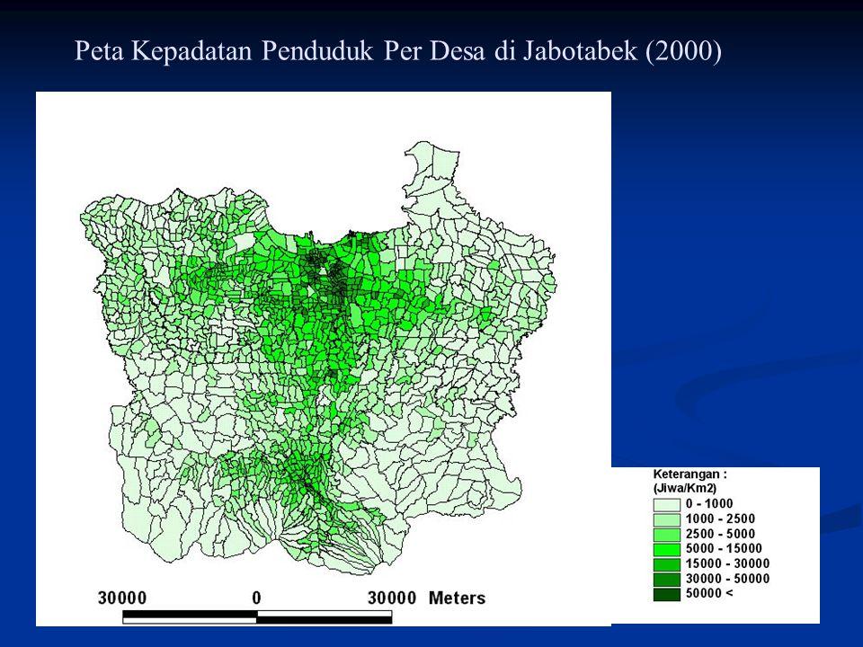 Peta Kepadatan Penduduk Per Desa di Jabotabek (2000)