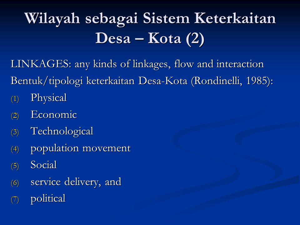 Wilayah sebagai Sistem Keterkaitan Desa – Kota (2)